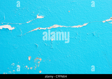 old paint and wall, cracked wall color blue