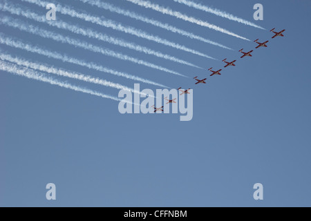 Snowbirds Flying in Formation, CNE, Toronto, Ontario - Stock Photo