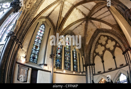Chapter House Westminster Abbey London UK - Stock Photo