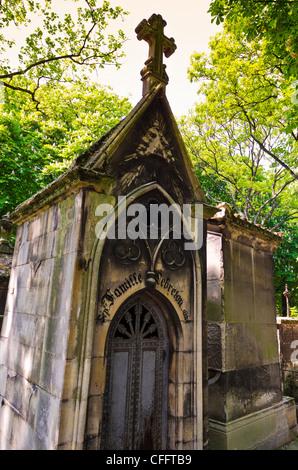 Mausoleum at Père Lachaise Cemetery, Paris, France - Stock Photo