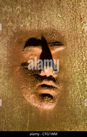 Close-up of sculpture of Franklin D. Roosevelt (32nd US ...