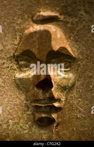 Close up of bronze bas-relief negative figure by Robert Graham Titled 'Social Programs'-2nd Term room FDR Mem, Washington - Stock Photo