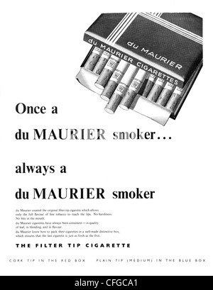 Du Maurier cigarettes advert from 1955 - Stock Photo
