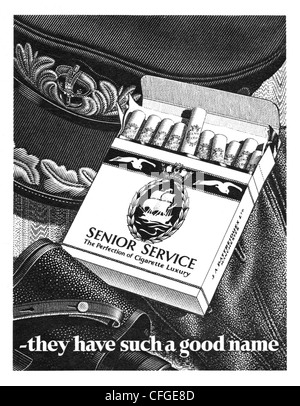 Senior Service cigarettes advert from 1952 - Stock Photo