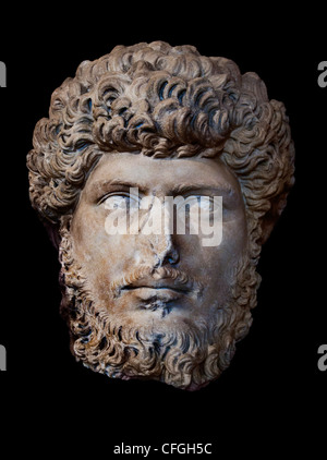 Rome Roman Emperor Lucius Verus 130 – 169 AD - Stock Photo