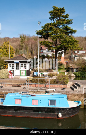 Marsh Lock on the Thames at Henley-on-Thames, Oxfordshire, England, UK - Stock Photo
