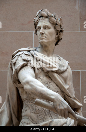 Gaius Julius Caesar 100  – 44 BC Roman emperor general statesman by Nicolas Coustou 1658–1733 - Stock Photo