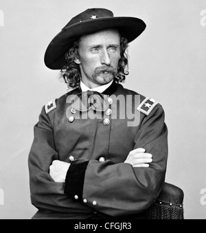 GEORGE ARMSTRONG CUSTER (1839-1876) US Army cavalry officer commander - Stock Photo