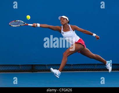 Anne Keothavong (GBR) in action at the Australian Open 2012, ITF Grand Slam Tennis Tournament, Melbourne Park,Australia. - Stock Photo