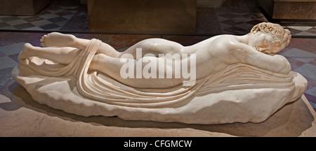 Sleeping Hermaphroditus 2 cent AD Roman copy  Hellenistic Greek original 2 cent BC - Stock Photo