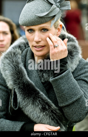 Zara Phillips at Day One of the Cheltenham Gold Cup Festival Cheltenham Racecourse Glos - Stock Photo