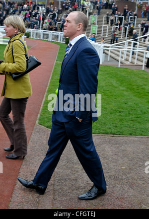 Mike Tindall at Day One of the Cheltenham Gold Cup Festival Cheltenham Racecourse Glos - Stock Photo