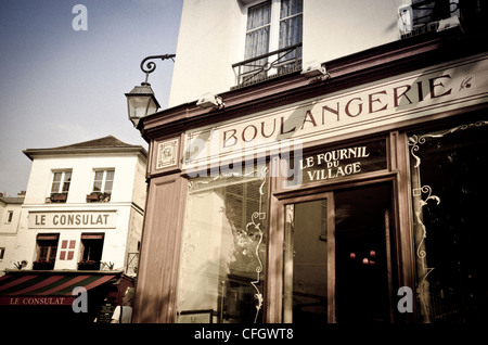 France paris old french bakery shop front boulangerie for Restaurant le miroir montmartre