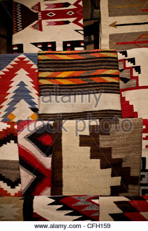 Display of native american rugs for sale santa fe new for Native crafts for sale
