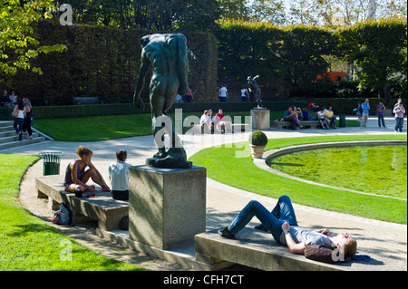 France, Paris, 7th arrondissement, gardens of the Rodin museum - Stock Photo