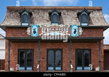 USA, Oklahoma, Elk City, the opera house on Route 66 - Stock Photo