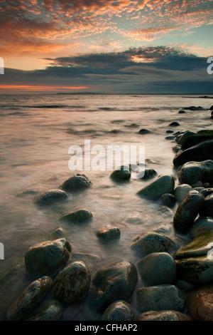 Osmington mills sunset, on the Jurassic coastline. - Stock Photo