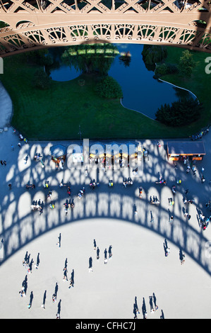 France, Paris,view from the Eiffel Tower - Stock Photo