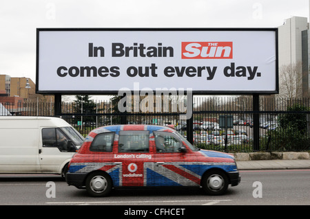 6th March 2012. Advert for the new Sun on Sunday which went on sale on the 26th February 2012. - Stock Photo