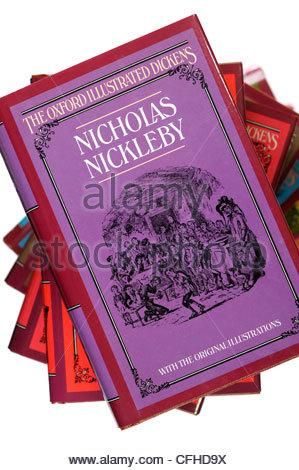Charles Dickens novels, Nicholas Nickleby, England - Stock Photo