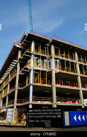 New Office Space Building Site, Station Road, Cambridge, England, UK - Stock Photo