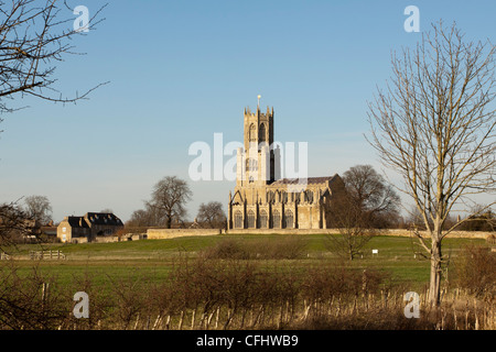 Church of St Mary and All Saints, Fotheringhay, Northamptonshire, England, UK - Stock Photo