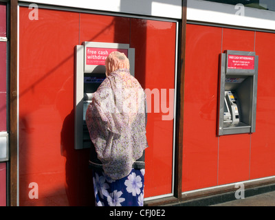 united kingdom west london acton cash machines outside the post office in crown street - Stock Photo