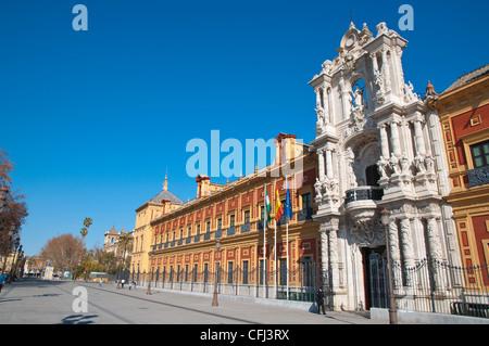 Front of Palacio de San Telmo along avenida de Roma street central Seville Andalusia Spain - Stock Photo