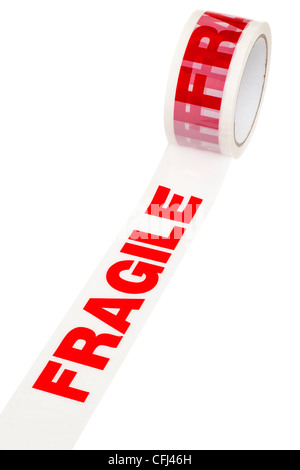 Roll of Fragile tape - Stock Photo