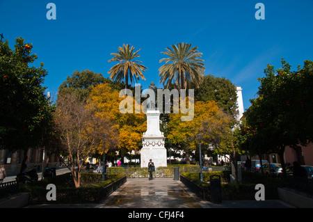 Plaza del Museo square Seville Andalusia Spain - Stock Photo