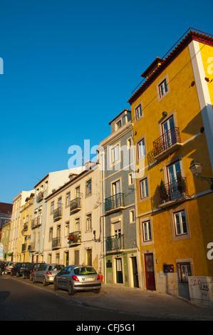 Campo de Santa Clara square Alfama district Lisbon Portugal Europe - Stock Photo