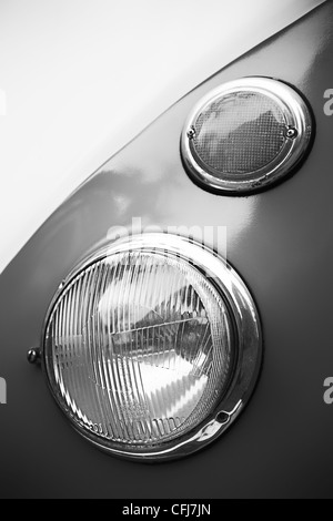 Detail of a volkswagen transporter T1 from 1952 - Stock Photo