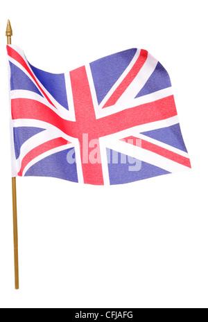 union jack flag studio cutout - Stock Photo
