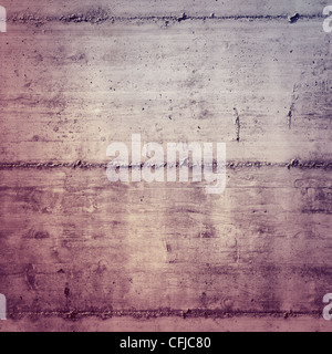 Wooden texture on concrete, may use as a background - Stock Photo