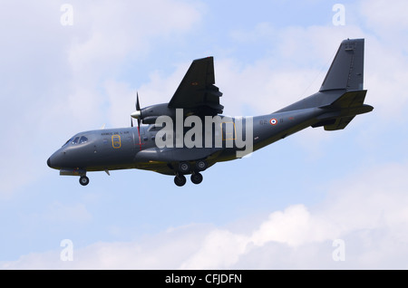 CASA CN-235 200M operated by the French Air Force Armee de L'air on final approach for landing at RAF Fairford, - Stock Photo