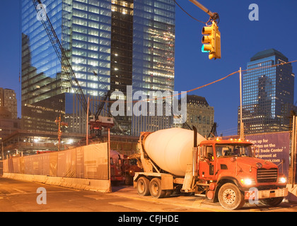 Redevelopment of World Trade Centre site, New York City, USA - Stock Photo