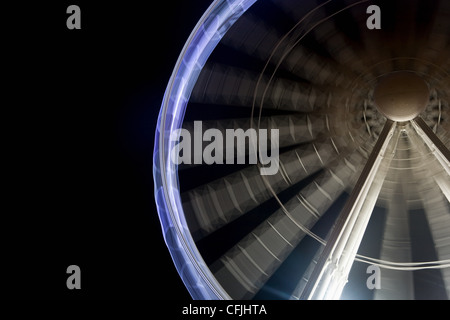 Ferris wheel in motion - Stock Photo