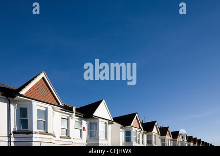 Houses and blue sky - Stock Photo