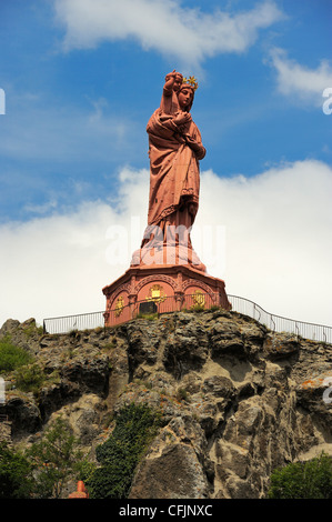 Statue of Notre-Dame-de-France, Le Puy en Velay, Haute-Loire, Massif Central, France, Europe - Stock Photo