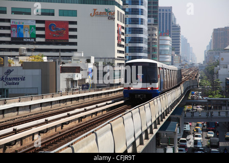BTS Skytrain, Bangkok, Thailand, Southeast Asia, Asia - Stock Photo