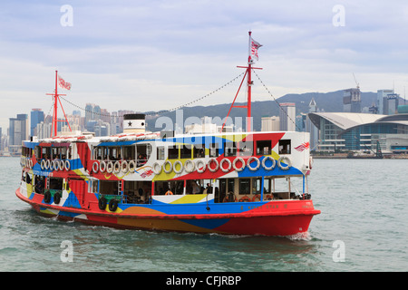 Star ferry on Victoria Harbour, Hong Kong, China, Asia - Stock Photo