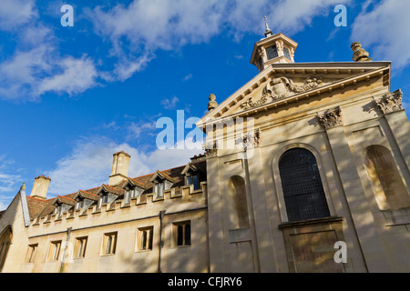 Pembroke College chapel on Trumpington Street, Cambridge, England. The chapel was designed by Sir Christopher Wren - Stock Photo