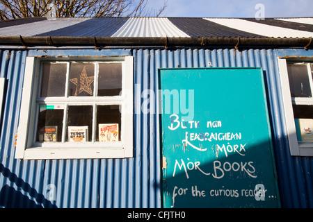 An old book shop in Broadford, Isle of Skye, Scotland, UK. - Stock Photo