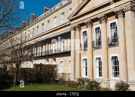 Row Of Regency Houses In Suffolk Square Cheltenham Stock