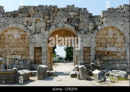 Roman ruins of Perge in Antalya Turkey Stock Photo ...