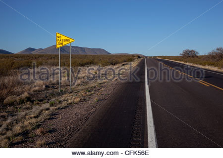no passing zone sign arizona usa stock photo, royalty free image