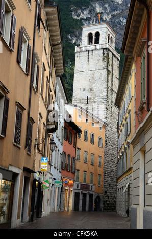 Street in Riva del Garda, Italy. - Stock Photo