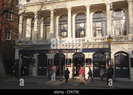 Garrick Theatre Charing Cross Road London - Stock Photo