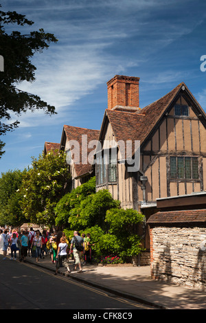 Warwickshire, Stratford on Avon, Old Town, Hall's Croft, home of Shakespeare's daughter - Stock Photo
