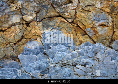 the old natural stone texture with cracks - Stock Photo